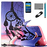 COCO FUN® Sunset Wind-Bell Pattern PU Leather Case with V8 USB Cable Flim and Stylus for Samsung Galaxy Grand Prime G530