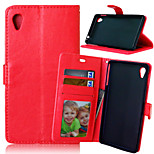 Crazy Horse PU Leather Wallet Stand Case Cover with Card Slots for Sony Xperia M4 Aqua / M4 Aqua Dual  (Assorted Colors)