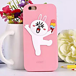 The New Three-Dimensional Cute Bunny Green Silicone Phone Case for iPhone 6 /6S (Assorted Colors)
