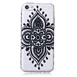 Mandala Pattern Transparent TPU Soft Case for iPhone5c