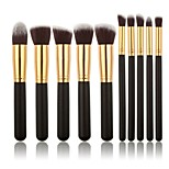 10pcs/set Makeup Brushes Powder Foundation Eyeshadow Eyeliner Lip Brush Set