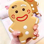 Navidad de dibujos animados de pan de jengibre del silicón del estilo del hombre caso para el iphone 6 / 6s plus 5.5 (colores surtidos)