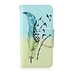 Feather Birds Pattern PU  Material Card Bracket  Case for iPod Touch 5  /6