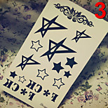 Temporary Tattoos Stickers Non Toxic Glitter Waterproof Multicolored Glitter 1 Package  Cartoon