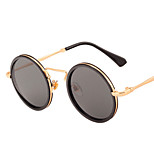 100% UV400 Round Vintage Mirrored Metal Sunglasses