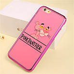 Cartoon Lion Pattern Plating TPU Phone Case for iPhone 6/6S