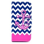 Pink Wave with Rivet Pattern PU Leather Stand Case Cover with Card Slot for iPhone 5/5S