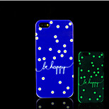 Be Happy Pattern Glow in the Dark Hard Plastic Back Cover for iPhone 5 for iPhone 5s Case