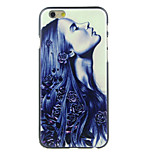 Long Haired Girl Pattern  Hard Case for iPhone 6/6S
