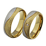 Band Rings 18K gold Steel Fashion Screen Color Jewelry Party 1pc