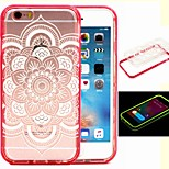 2-in-1 The Aedes Big Flower Pattern TPU Back Cover with PC Bumper Shockproof Soft Case for iPhone 6/6S
