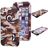 Special Design Novelty Wood Grain Silicone PC Back Case Camouflage Color for iPhone 5/5S (Assorted Colors)