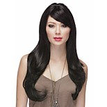 Natural Color # 1B Syntheic Wave  Wig Extensions Factory Price