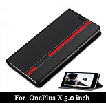 Luxury Wallet Style Phone Cover Mixed Colors Top Leather Case For OnePlus X Case With Card Slot Holder (Assorted Colors)