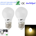 YouOKLight® 2PCS E27 5W 10*5730 420LM 3000K Warm white Light Energy saving  high quality Ceramic LED bulbs