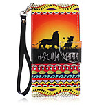 New Lanyard  Lion Pattern PU Leather Material Phone Case for Huawei P8 Lite