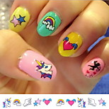 (20Pcs/Package) Nail Stickers Temporary Tattoos Stickers  Non Toxic Glitter Waterproof (Color Randomly)