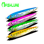 Afishlure Lead Fish Jig Metal Jig Fishing Lure Artificial Hard Bait 123g 4pcs/lot 4 Colors Sea Fishing Spinning