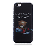 Don't Touch My Phone Pattern Transparent TPU Soft Case for iPhone5c