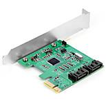 Shengwei® PEC-2024 PCI-E to SATA3.0 Port Board MosChip MCS9901 Use for WIN98/Me/XP/Server2003/Vista/7/8/10