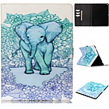 Blue Elephant Pattern Flip the Card Holder Protection Case for iPad Pro