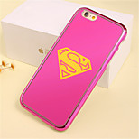Pink S Flag Pattern Plating TPU Phone Case for iPhone 6/6S