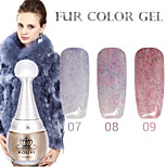 1PCS KOUYI Fur Color Gel 12Colors Long Lasting Nail Polish 7-9