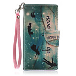 New Lanyard  Boats People Pattern PU Leather Material Phone Case for Huawei P8 Lite