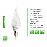 1 pcs  E14 / E12 5W 10PCS*0.5W SMD 450 LM Cusp Dimmable Candle Bulbs