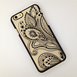 Peacock Tail Pattern Openwork Relief Printing Thin PC Material Phone Case for iPhone 6/iPhone 6S