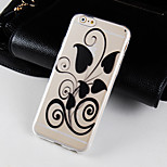 Beautifully Dressed Pattern Transparent Phone Case Back Cover Case for iPhone6/6S