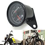Black 12v Motorcycle Scooter Speedometer Odometer Gauge 0-160KM/h Motorbike Backlit Dual Speed meter with Indicator