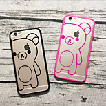Hollow Simple Cute Bear Pattern PC Hard Cover Case for iPhone6/iPhone6s