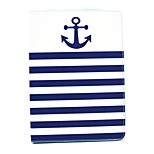 Striped Anchor Pattern PU Material Flip Bracket Protective Case for iPad  Mini 4 (Assorted Colors)