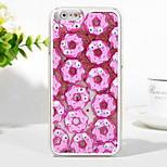 The New 3D Donuts Small Black Sand Glitter PC Material Phone Case for iPhone 6 / 6S