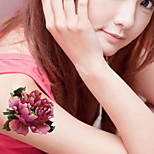 Roses Peonies Arm  Waterproof Flower Arm Temporary Tattoos Stickers Non Toxic Glitter