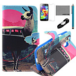 COCO FUN® Antelope Bus Pattern PU Leather Case with V8 USB Cable, Flim and Stylus for Samsung Galaxy S5 MINI