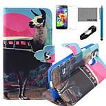 coco Fun® Antilopen-Bus-Muster PU-Lederetui mit V8-USB-Kabel, FLIM und Stylus für Samsung-Galaxie s5 Mini