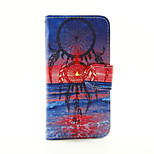 Red and Blue Dream PU Leather Wallet Full Body Case for iPod Touch 5/6