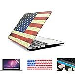 4 en 1 bandera retro toldo de plástico duro + cubierta del teclado + Protector de pantalla + enchufe del polvo para el MacBook Pro de 13