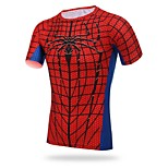 Men's Cycling Tops Short Sleeve Bike Breathable / Ultraviolet Resistant / Sweat-wicking / Compression Red