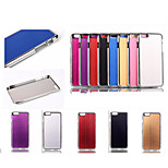 Wiredrawing High Quality Plating Golden PC+ PU Leather Material Phone shell For iPhone 6(Assorted Color)