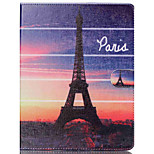 The Eiffel Tower Pattern PU Leather Case with Stand and Card Holder for iPad Air