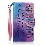 New Lanyard Black Letters Pattern PU Leather Material Phone Case for Huawei P8 Lite
