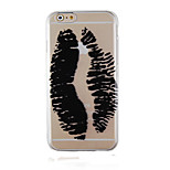 Graffiti Black Pattern Transparent Phone Case Back Cover Case for iPhone6/6S