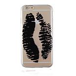 Graffiti Black Pattern Transparent Phone Case Back Cover Case for iPhone6/6S