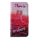The New Red PU Leather Material Flip Card Cell Phone Case for iPhone 6 /6S
