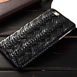 The New Ultra-Soft Leather Woven Stripe PC Phone Case for iPhone 6/6S (Assorted Colors)