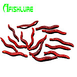 Afishlure Red Earthworm Soft Bait Lure Packs 0.23g/<1/18 oz.40mm1-5/8