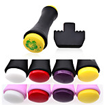1Pcs Manicure Printing Tools Double Headed Ultra Soft Silicone Seal Round Soft Seal 8 Color Optional